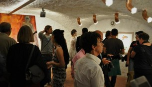 Public during vernissage in Florence.